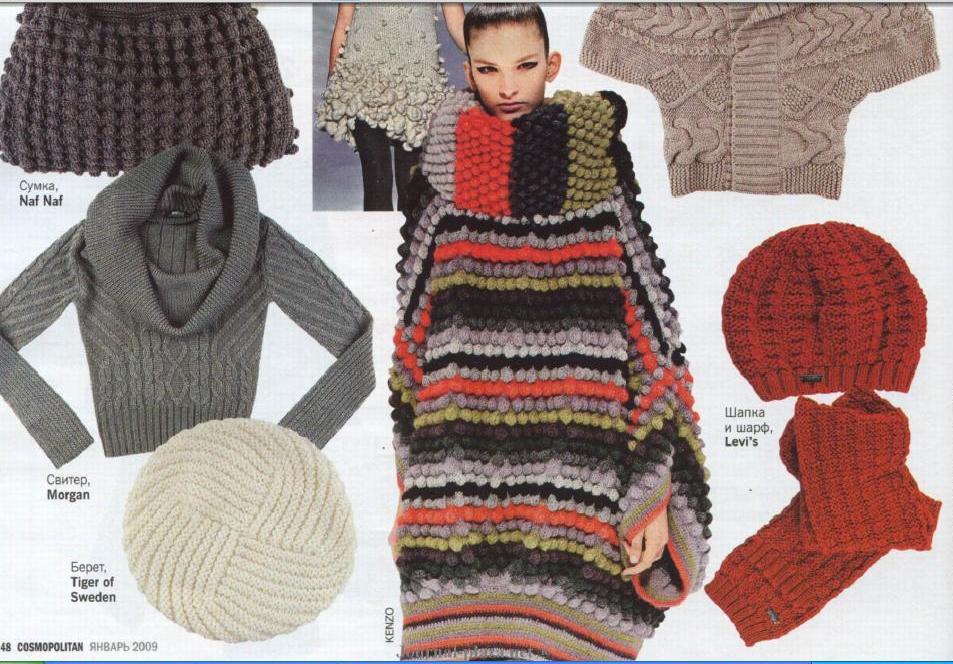 Модное вязание жилетки спицами. Схема | Модное