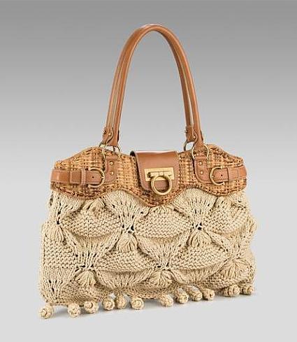 Сложность этой вязаной сумки в