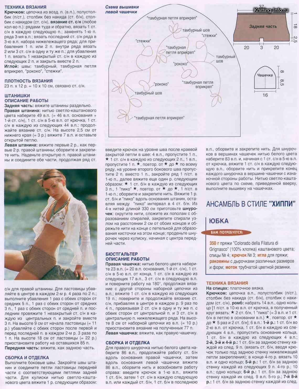 Вязаные мужские шорты спицами схемы и описание